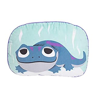 "Disney Frozen 2 Colorful Double-Sided""Bruni"" The Salamander Toddler Decorative Character Pillow with Piping, Blue, Pink, Purple, Black (5114721P)"