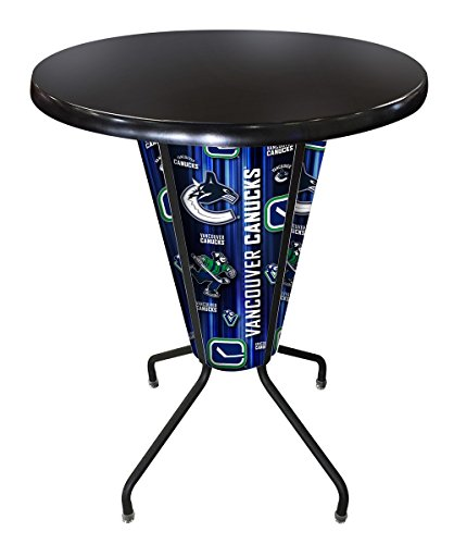 Holland Bar Stool Co. Outdoor/Indoor LED Lighted Vancouver Canucks Pub Table