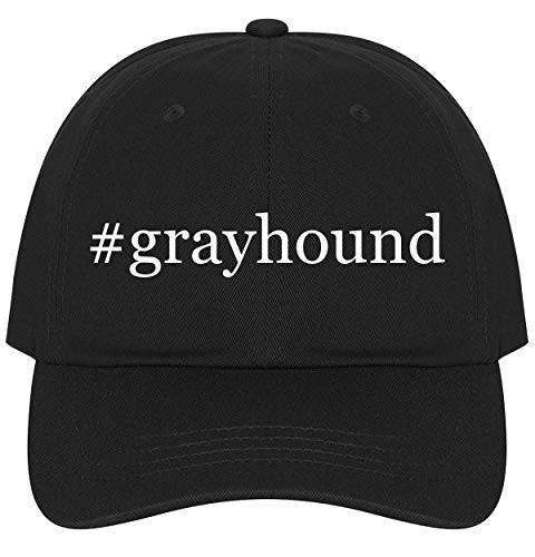 - The Town Butler #Grayhound - A Nice Comfortable Adjustable Hashtag Dad Hat Cap, Black, One Size
