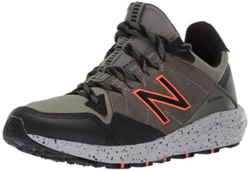 New Balance Boys' Craig V1 Running Shoe, Mineral Green/Black/HI-LITE, 4 M US Big Kid