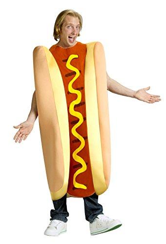 Hot Dog Halloween Costume (FunWorld Hot Dog, Tan/Red, One Size Costume)