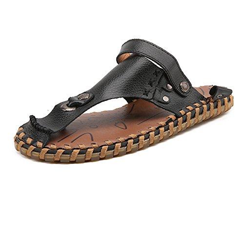 e in sandali Color con EU da uomo senza spiaggia antiscivolo Pantofole Bianca Sandali schienale da pelle Dimensione Nero vera 42 4tqvSx