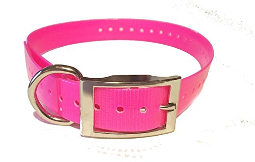 Sparky Pet – Neon Pink 1″ Square Buckle High Flex Replacement Collar – Compatible with Garmin, Dogtra, E Collar, PetSafe, SportDOG Systems For Sale