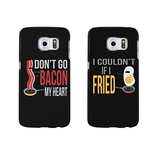 Samsung Galaxy S6 Edge Plus Boyfriend Girlfriend Lovers Cover Shell Funny Cool Don'T Go Bacon My Heart And I Coulon'T If I Fried Matching Couple Phone Case Cover for Samsung Galaxy S6 Edge Plus