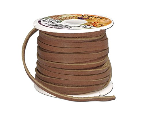 Tandy Leather Utility Latigo Lace 1 8  X 50 Ft  3 Mm X 15 2 M  Med Brown 5111 03