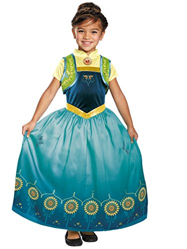 Anna Frozen Fever Deluxe Costume, One Color, Large (10-12)