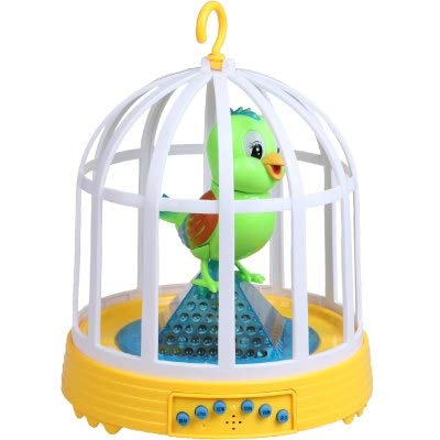 (PHAPHA Electronic Pets - Sounding Plastic Kids Fancy Children's Toy Electric Simulation Sensor Sound Bird Cage Birds Will Be Called Moving Pets Toys 1 PCs)
