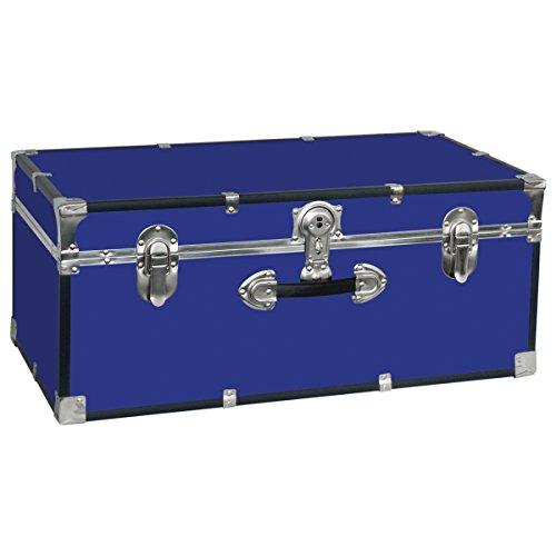 Seward Trunk College Dorm and Camp Storage Footlocker Trunk, Blue, 30-Inch (SWD5120-40)