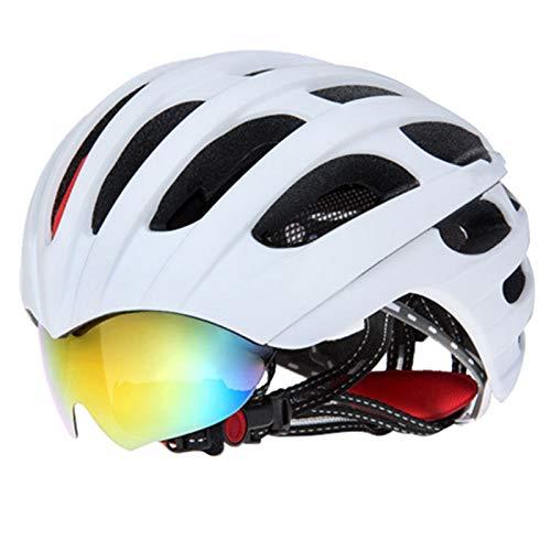 BTAWM Helmets Rennradhelm Brillenabdeckung Fahrradhelm 32 Vents Fahrradhelme Brille 3 Objektiv Stil 5