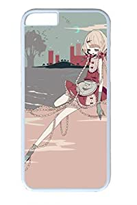 Anime Girl 06 Slim Soft Cover for iPhone 6 Plus Case ( 5.5 inch ) PC White Cases by mcsharks
