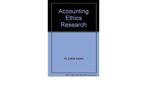 accounting ethics research paper