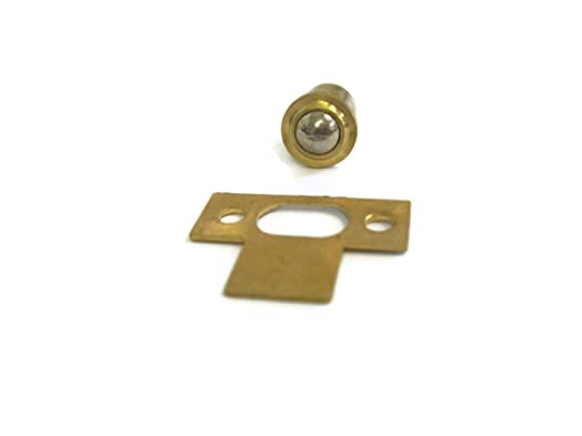 1 x Brass 10mm ball catch cabinet cupboard door catch with strike ...