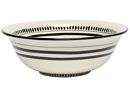 Cream Serving Bowl - Thompson & Elm M. Bagwell Colors Collection Ceramic Serving Bowl, 11.5-Inches in Diameter, Cream