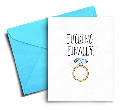 Engagement Card Funny - Wedding Congratulations Card - Bridal Shower Cards for the Bride- Engagement Gifts for Couples Funny