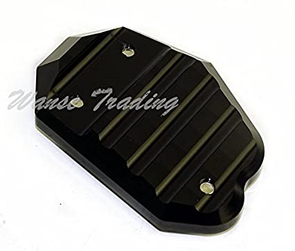 Red waase Motorcycle Kickstand Foot Side Stand Extension Pad Support Plate For Kawasaki Z800 Z1000 Z1000SX ER4N ER4F ER6N ER6F Ninja 400R 650 650R 1000 ZX-6R ZX-10R