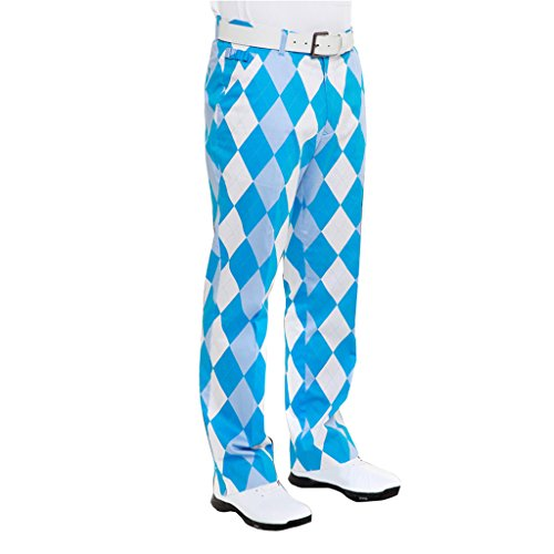 Royal & Awesome Men's Pant, Blue and White, 32-Inch