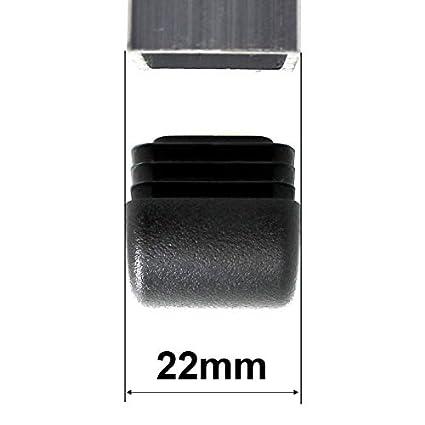 mesas and muebles patas de Lifeswonderful/® tapones curvados de tubo cuadrado para los extremos para sillas Todos los tama/ños