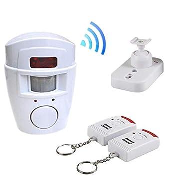 Alarma inalámbrica con sensor de movimiento, control remoto ...