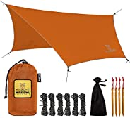 Rain Fly Tarp – The WiseFly by Wise Owl Outfitters – Premium 11 x 9 ft Waterproof Camping Shelter Canopy – Lig