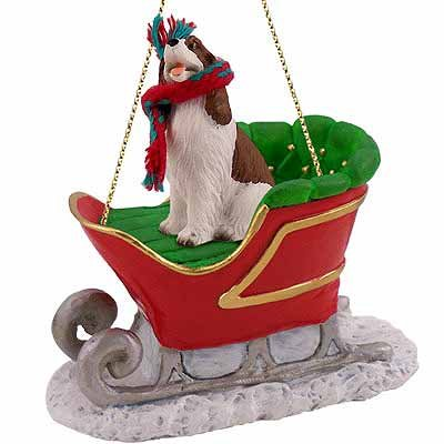 Conversation Concepts Springer Spaniel Liver Sleigh Christmas Ornament