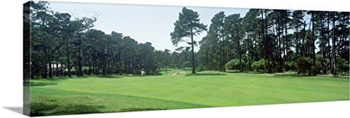 mium Thick-Wrap Canvas Wall Art Print entitled Spyglass Golf Course Pebble Beach CA USA 60