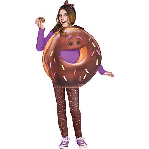 Fun World Big Girl's LRG/Donut Emojimovie Chld Cstm Childrens Costume, Multi Color, Large -