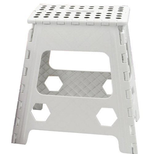 39 CM PLASTIC FOLDING STEP STOOL LARGE FOLD ABLE COLLAPSIBLE  sc 1 st  Amazon UK : large folding step stool - islam-shia.org