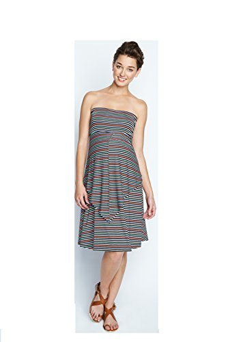 Maternal America Women's Maternity Convertible Dress/Skirt, Candy Stripes, (Candy Stripe Skirt)