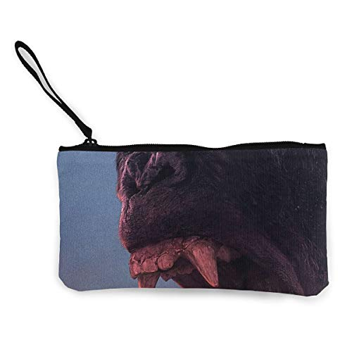 Oomato Canvas Coin Purse Chimpanzee Monster Cosmetic Makeup Storage Wallet Clutch Purse Pencil Bag -