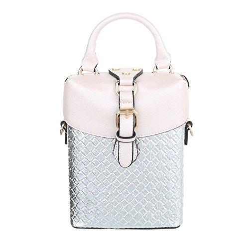Schuhcity24 Taschen Handtasche Silber i6iPslwP