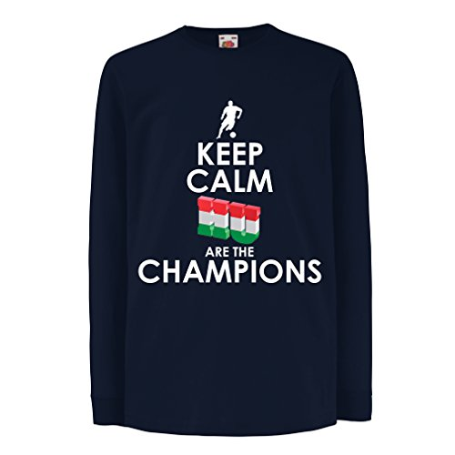 fan products of T-Shirt For Kids Hungarians Are The Champions ! (12-13 Years Blue Multi Color)