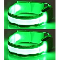 ILLUMINii High Visibility (SET of 2) RECHARGEABLE Running Armbands with LED Lights. RECHARGEABLE from a USB Port