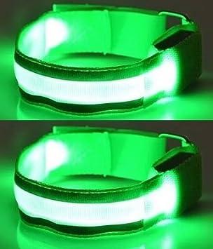 Illuminii® Lot de 2 Brassards de course avec lampes LED et bandes  réfléchissantes rechargeables haute 111e834e07c
