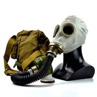 NKST Group Vintage Genuine Soviet Russian Gas mask GP-5 Post-Apocalyptic Cosplay Costume (Large) Grey -