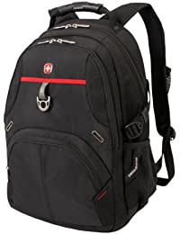 SA3183 Black with Red Laptop Backpack - Fits Most 15 Inch Laptops and Tablets