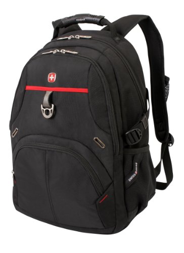 Swiss Gear SA3183 Black with Red Laptop Backpack - Fits Most 15 Inch Laptops and - Sunglasses Tab Cheap