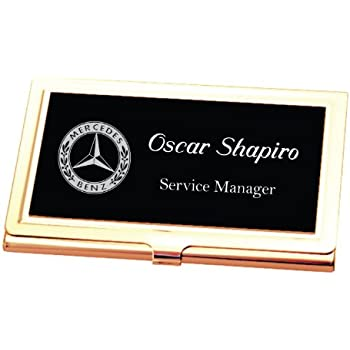 Amazon personalized black gold business card case holder personalized black gold business card case holder engraved free colourmoves