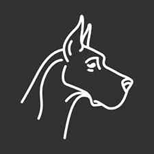 - Keen Great Dane Head Decal Vinyl Sticker|Cars Trucks Walls Laptop|White|5.5 in|KCD352