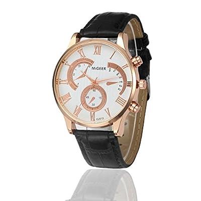 Charberry New Retro Design Leather Band Analog Alloy Quartz Wrist Watch