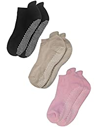 Anti Slip Non Skid Barre Yoga Pilates Hospital Socks with...