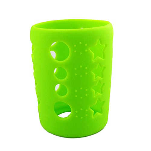 Silicone Protective Bottle Cover 4 oz Glass Baby Feeding Milk Bottle Sleeve Protect Insulating Case - Green