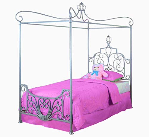 Crown Canopy Colored Over Frame for Kids Girls Metal Canopy Princess Adorned Furnished Toddler High Decor & Ebook by AllTim3Shopping. ()