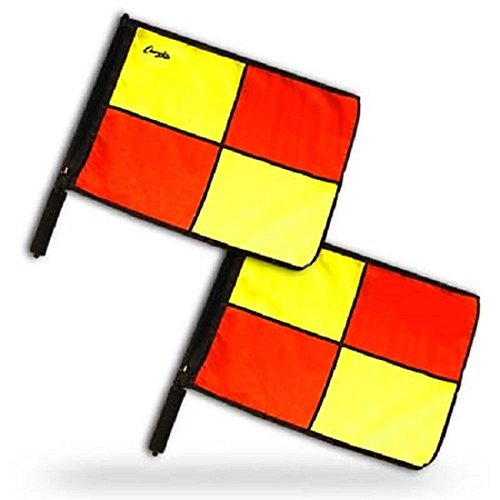 Champion Sports Official Pro Soccer Linesmen Referee Flags Set of 2 LFPRO (Champion Football Uniforms)