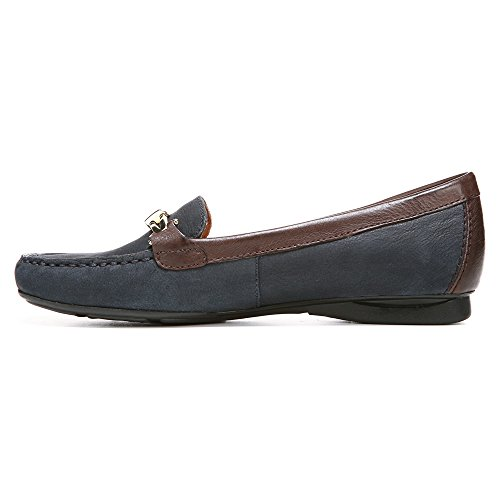 Naturalizer Mujeres Saturday Moccasin Classic Navy Nubuck / Cuero Oxford