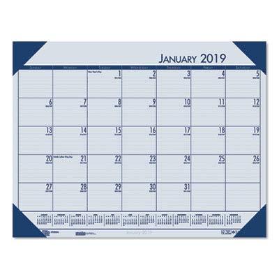 HOD12440 - EcoTones Ocean Blue Monthly Desk Pad Calendar (Pad Monthly Ecotones Desk Calendar)