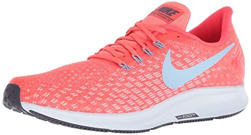 NIKE Men's Air Zoom Pegasus 35 Running Shoes (10, Bright Crimson/Blue Tint) (10 Best Running Shoes)