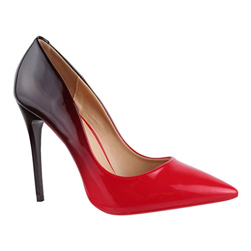Lack Damen Spitze Elara De Lyon Rot Stilettos Pumps Bequeme Tacón Elegantes Zapatos IwB0qCHI