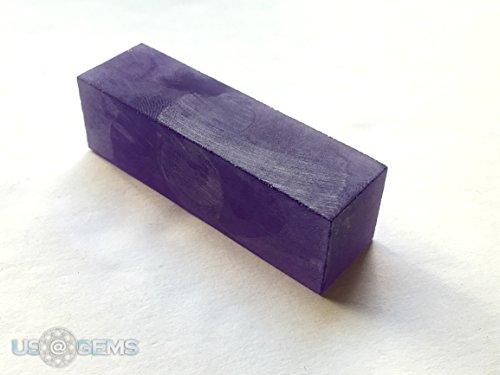 Amethyst #170/7. Rough 90 gr. SIAMITE Nanocrystal Created Gemstone. US@GEMS