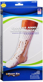 Sport Aid Canvas Ankle Support With Spiral Stays LG - 1 ea., Pack of 5