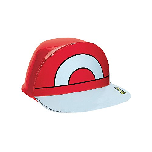 Pokemon Ash Costume X And Y (Electrifyingly Cute Pikachu & Friends Birthday Party Ash's Vac Form Hat Accessory, Red , 4